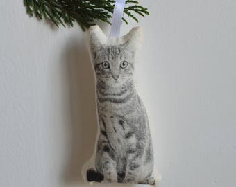 Silkscreen Cat Ornament