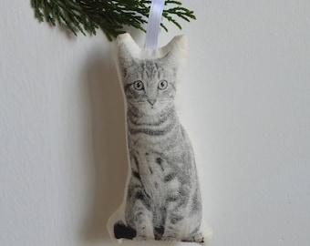 Silkscreen Cat Ornament