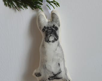 Silkscreen French Bulldog Ornament