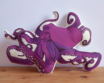 Silkscreen Octopus Pillow