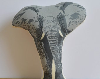 Silkscreen Elephant Pillow