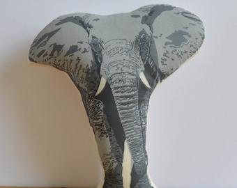 Silkscreen Elephant Pillow