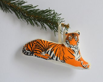 Silkscreen Tiger Ornament