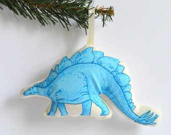 Silkscreen Stegosaurus Ornament