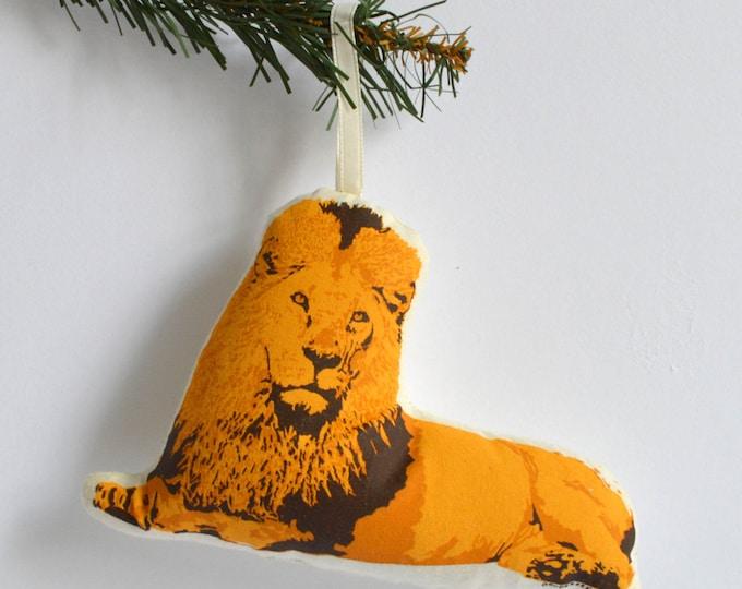 Silkscreen Lion Ornament