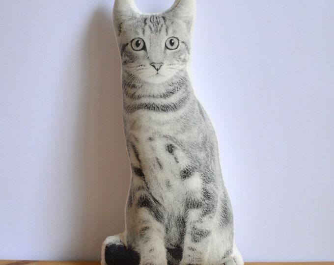 Silkscreen Cat Pillow