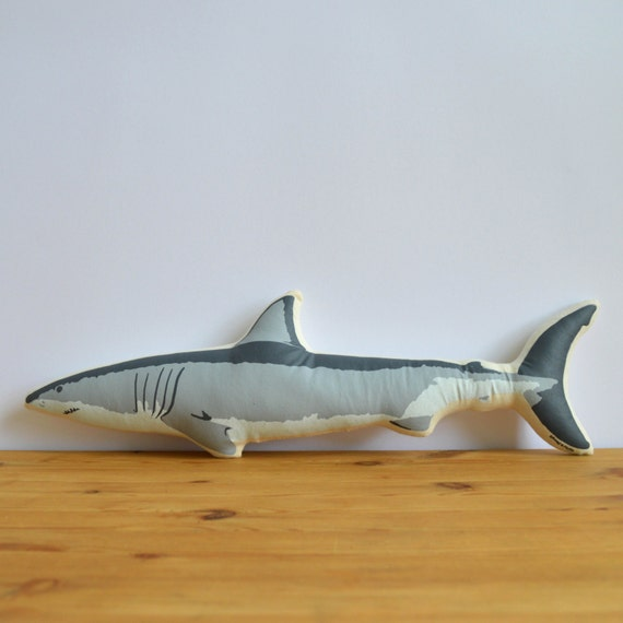 Fesselnd Siebdruck Hai Kissen   Etsy