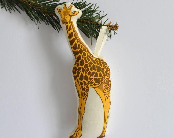 Silkscreen Giraffe Ornament