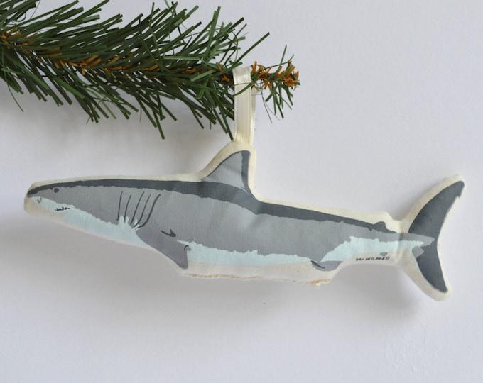 Silkscreen Shark Ornament