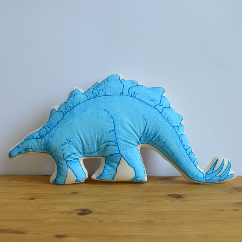 Silkscreen Stegosaurus Pillow