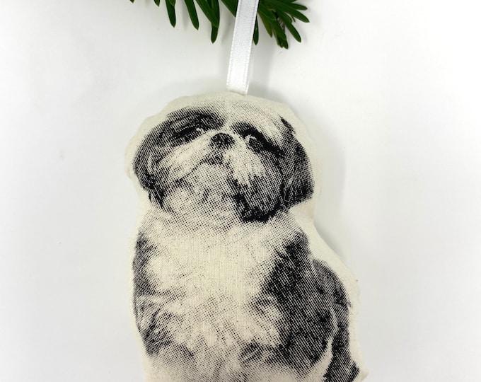 Silkscreen Shih Tzu Ornament