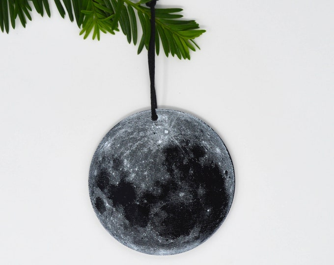 Plexi Silkscreen Full Moon Ornament