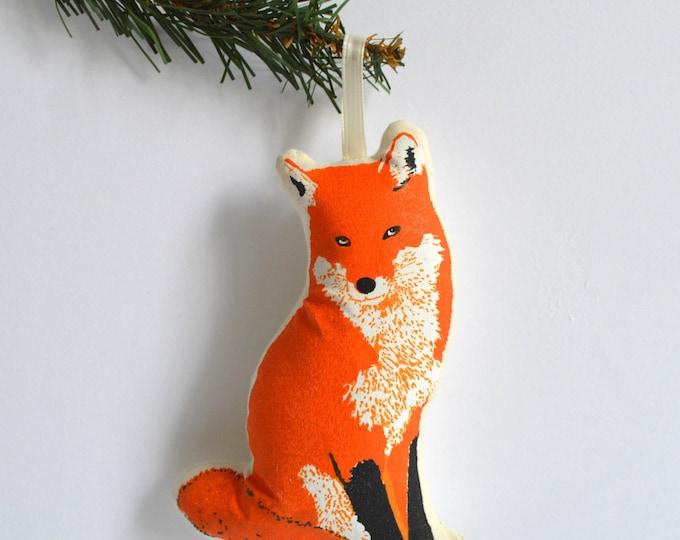 Silkscreen Fox Ornament
