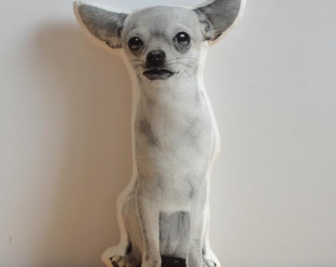 Silkscreen Chihuahua Pillow