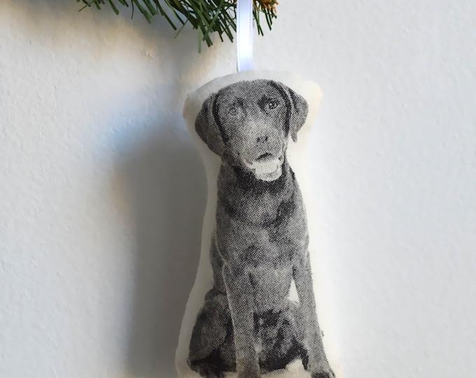 Silkscreen Labrador Retriever Ornament