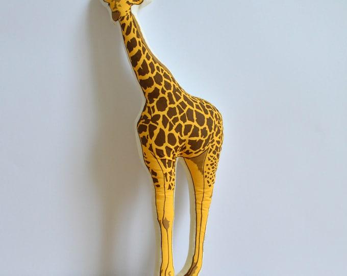 Silkscreen Giraffe Pillow
