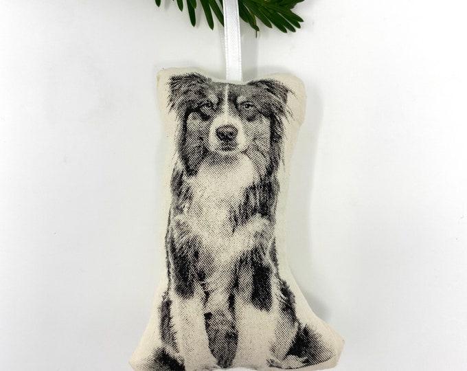 Silkscreen Australian Shepherd Ornament
