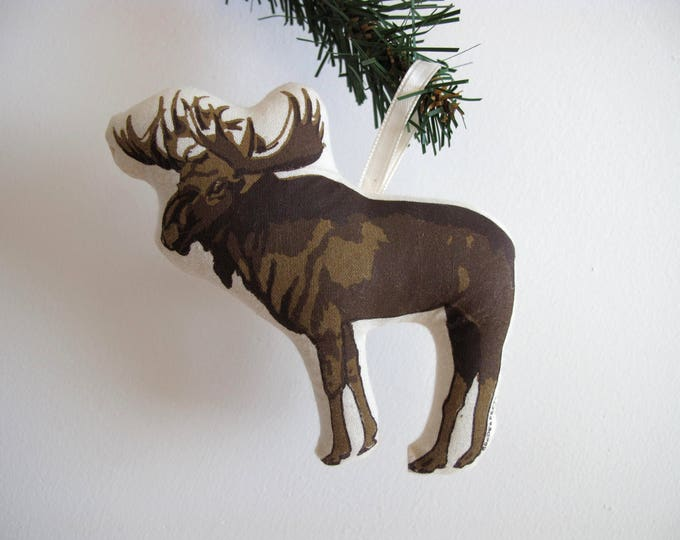 Silkscreen Moose Ornament