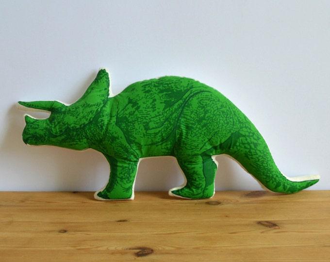 Silkscreen Triceratops Pillow