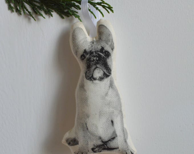Silkscreen French Bulldog Ornament