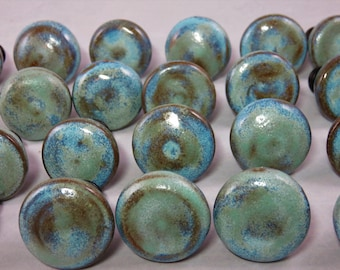 Opal and Seafoam ceramic drawer pulls made to order
