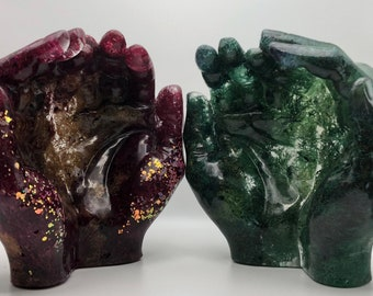 Mossy Hand-shaped Bowls