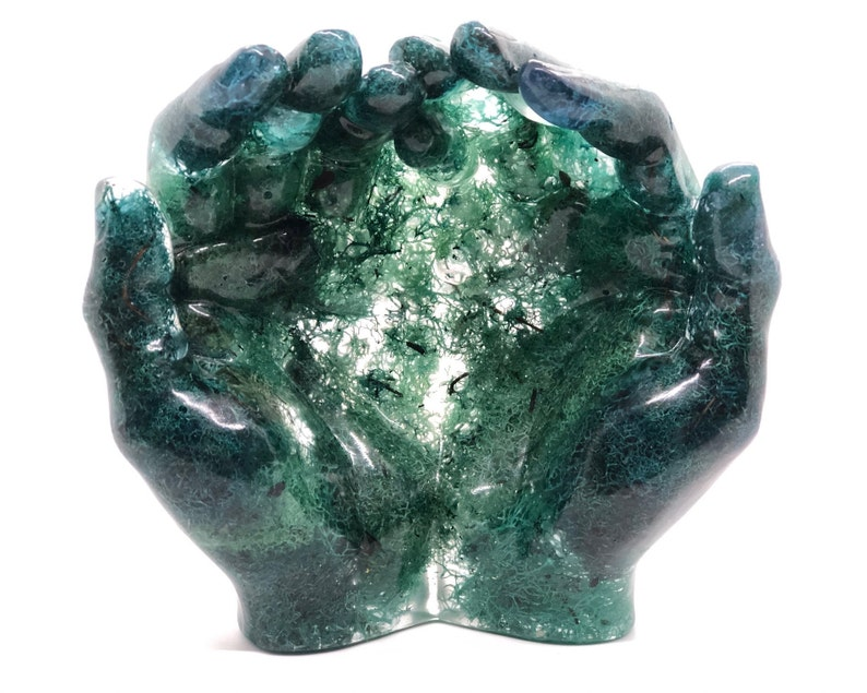 Mossy Hand-shaped Bowl image 0