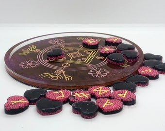 Sprinkles Heart Runes and Tray