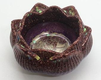 Copper/Violet Lotus Bowl