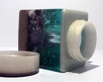 Square Ocean Stash Jar
