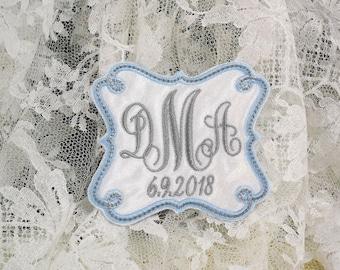 Something blue for bride Wedding dress label or patch Wedding gown label or patch Bridal shower gift jfybride Style 1011