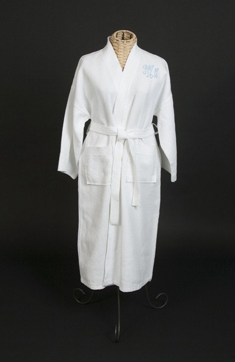 Cotton waffle weave spa robes 2nd anniversary gift for men or women jfyBride 1603 Set of 2 Robes