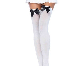 5613e47f6a6 Sugarpuss BOW THIGH HIGH Stockings