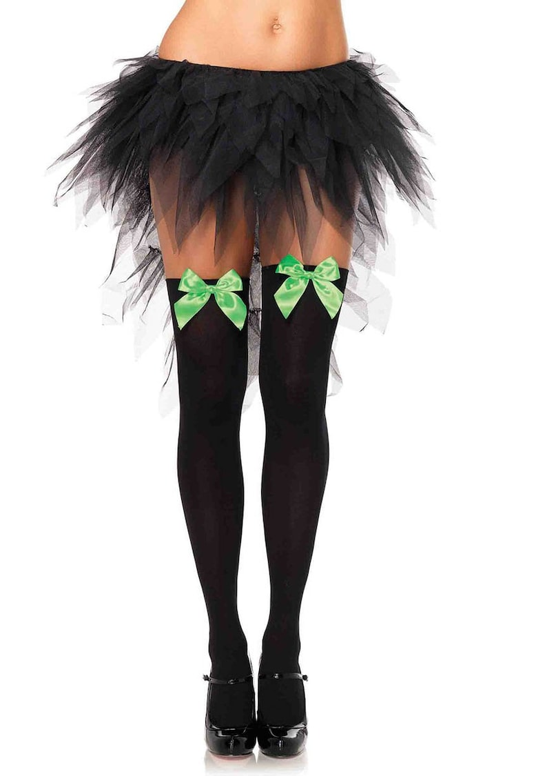 c1e3f3e42391a6 Sugarpuss JOKER THIGH HIGH Stockings Opaque Black with Green | Etsy
