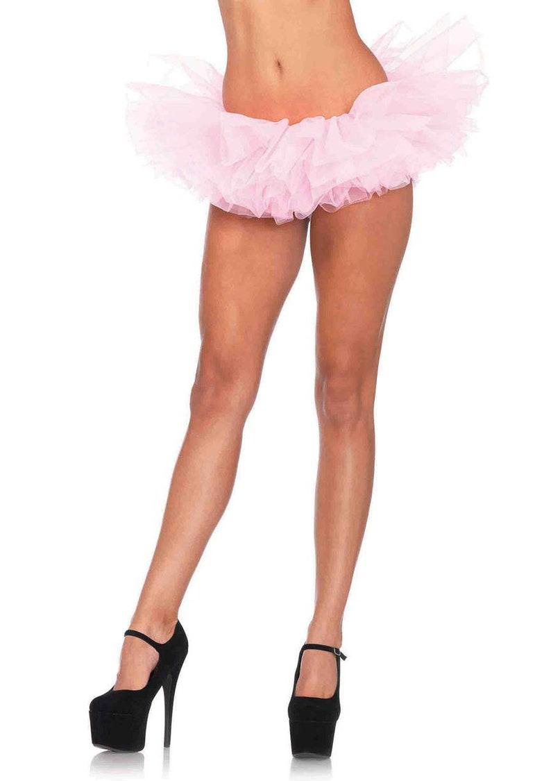 Ballet Costume Ballerina Sugarpuss PINK BALLERINA DOLL Costume Mini Circle Skirt Baby Pink Hologram Bodysuit Pink Tutu