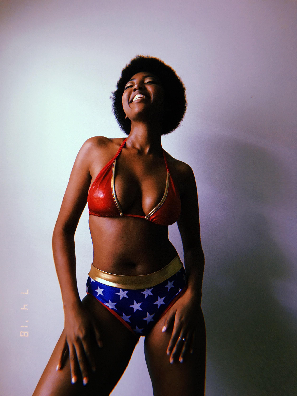 cc454ca0b4 Sugarpuss WONDER WOMAN BIKINI Top Triangle Top Wonder Woman | Etsy