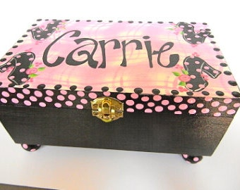 Hand Painted Children/'s Jewelry Boxes-Children Jewelry Box-Kids jewelry box-Kids trinket box-keepsake box Flower girl gifts