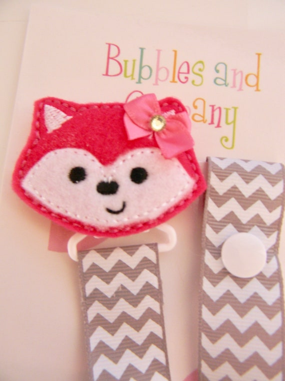 Binky Clip Baby Shower Gift Patterned Pacifier Clip