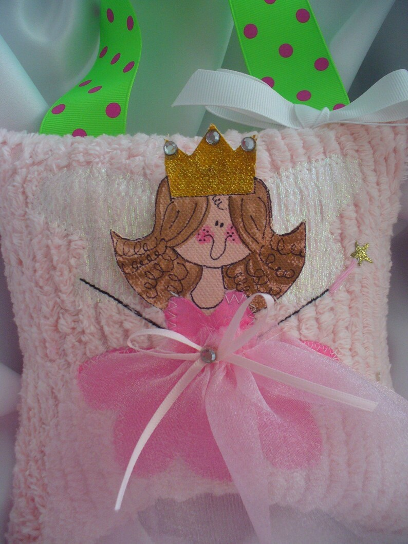 Girls Lavender Tooth Fairy Pillow personalized tooth fairy pillows-Hand Painted Faces fairy pillows-wholesale