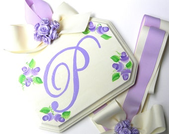 Personalized Hand Painted Hair Bow Holder - Bow Holder - Hairbow holder - barrette holder