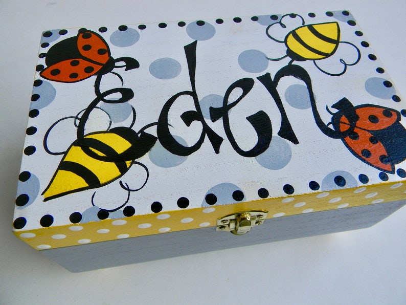 Hand Painted Children/'s Jewelry Boxes Girls  boys Kids Jewelry Boxes Trinket Boxes flower Girl Gift Boxes Personalized Jewelry boxes