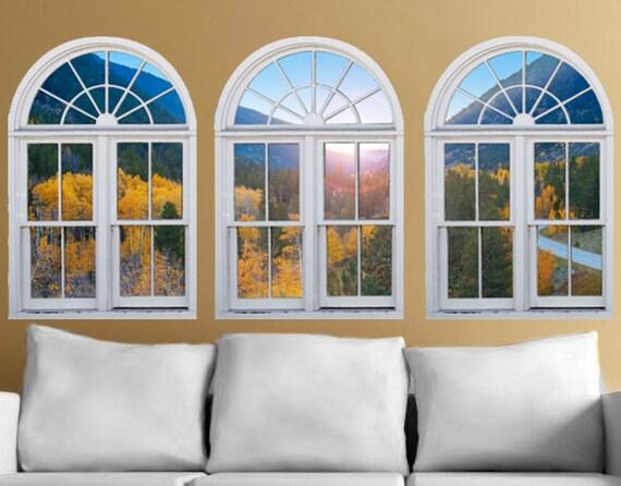 Wall mural windows self adhesive Colorado mountains window