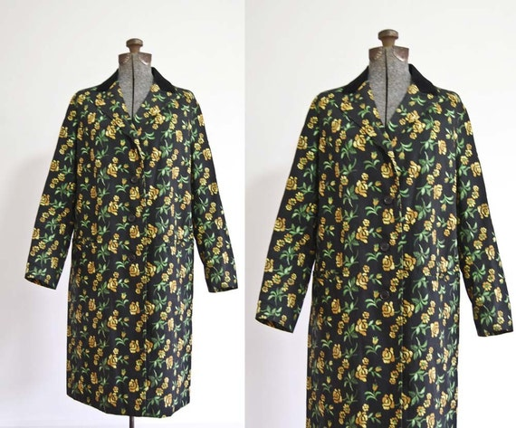 1960s Carnaby Flowered Coat
