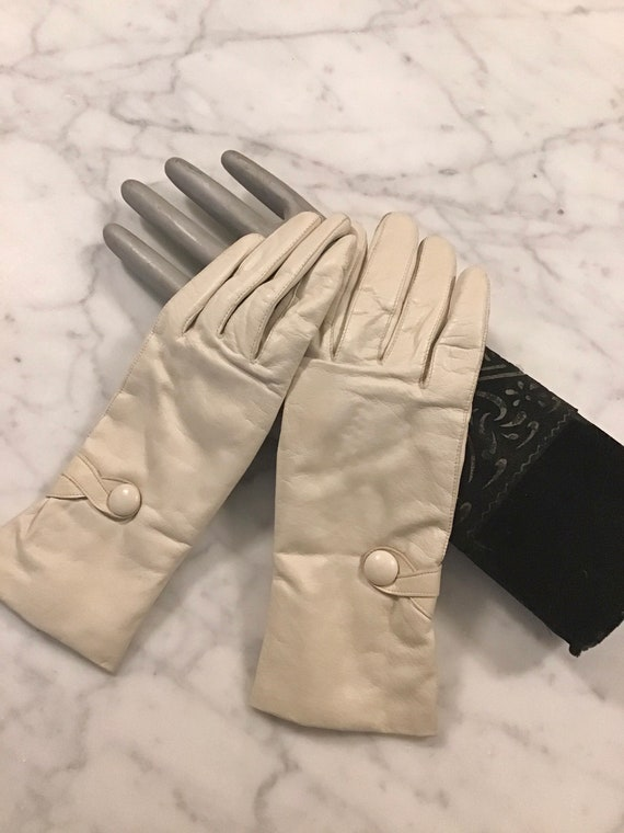 1950s Italian Cashmere Lined Kid Gloves