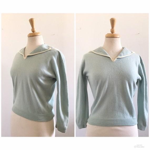 1950s Dalton Cashmere Sailor Collar Sweater