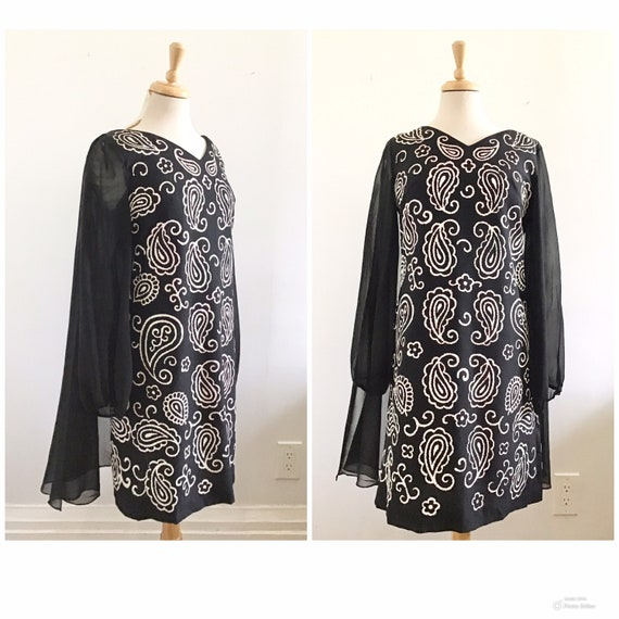 1960s Mod Arabesque Dress