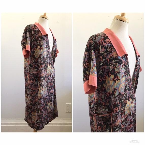 Vintage Chinoiserie Silk Kimono