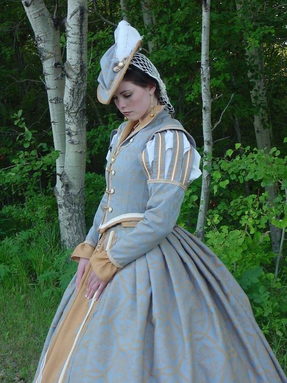 CUSTOM Tudor Court Renaissance High Collared Riding Dress