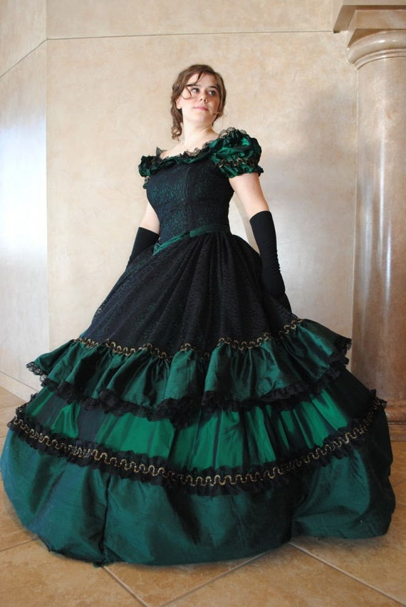 Victorian Civil War Ball Gown Dress Christmas CUSTOM in colors | Etsy