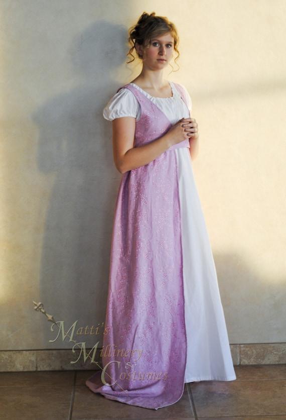 Custom Regency Jane Austen Open Robe Over Dress Gown Etsy